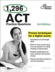 1296 ACT Practice Questions 3rd Edition College TePreparation