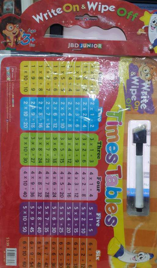 Write On & Wipe Off Times Tables