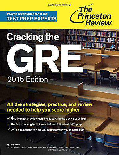 Cracking the GRE 2016 EditionGraduate School Test Preparation