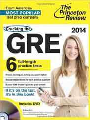 Cracking the GRE with DVD 2014 Edition Graduate School Test Preparation