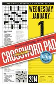 Crossword PageADay Notepad and 2014 Calendar