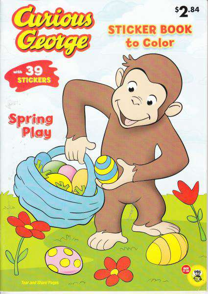Curious George Sticker Book To Color