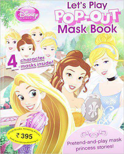 Disney Princess Lets Play Pop Out Mask Book -