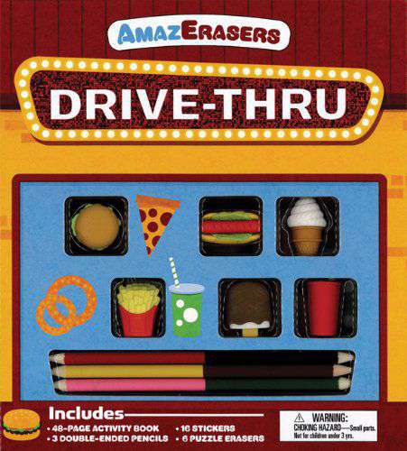 DriveThru Activity Book: Games Puzzles Doodling and More! Amazerasers