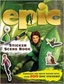 Epic Sticker Scene Book Epic Film Tie in Spiralbound