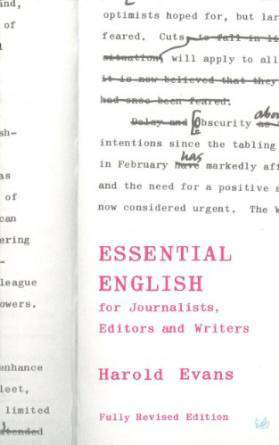 Essential English For Journalists Editors And Writers