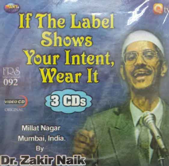 If the Label Shows Your Intent Wear It  3 CDs -