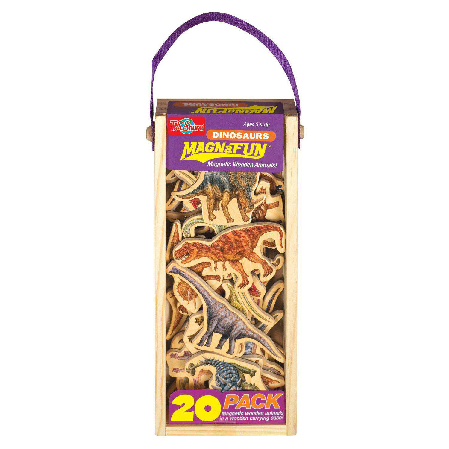 Magnetic Wooden Pretend Play Dinosaurs Magnanimals