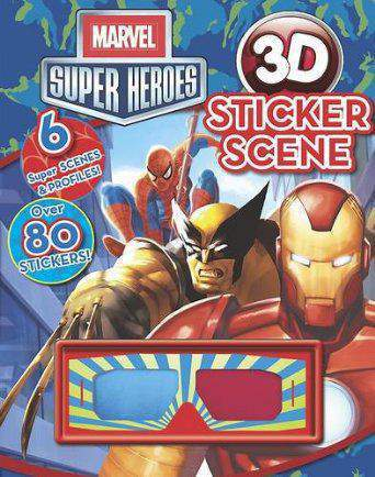 Marvel Super Heroes 3D Sticker Scene Marvel 3d Sticker Scene