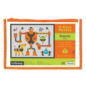 Mudpuppy Robots Pouch Puzzle  HB