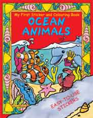 MY First Sticker and Colouring Book  Oceans Animals