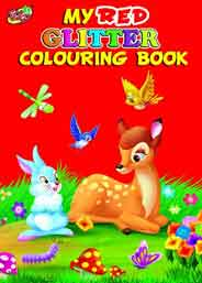 My Red Gliter Colourig Book