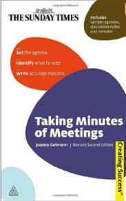 Taking Minutes Of Meetings 2nd Edition