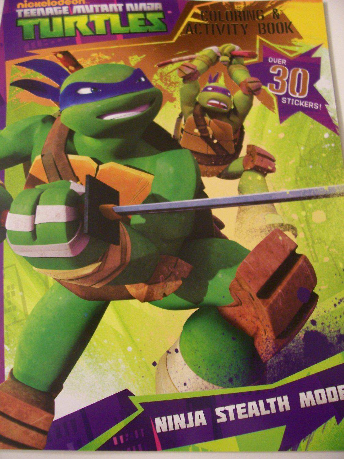 Teenage Mutant Ninja Turtles Coloring And Activity Book
