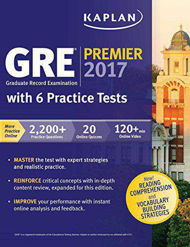 USEFP  GRE Premier 2017 with 6 Practice Tests Online Videos Mobile
