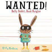 Wanted Ralfy Rabbit Book Burglar  -