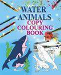 Water Animals Copy Colouring Book