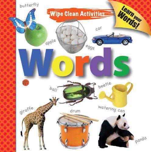 Wipe Clean Activities Words Write & Wipe Books