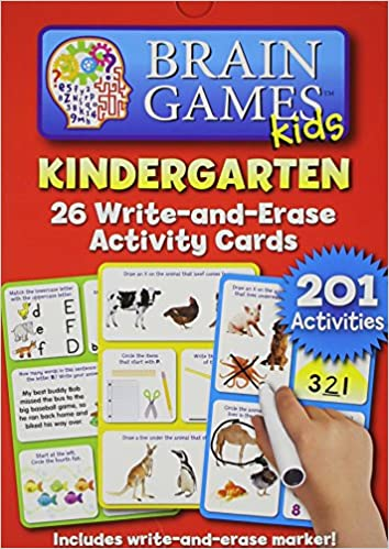 Brain Games Kids K Write-and-Erase - Activity Cards