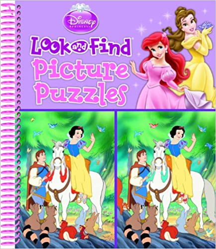 Disney Princess Look and Find Picture Puzzles - (SB)