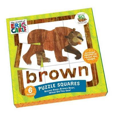 Mudpuppy The World of Eric Carle Brown Bear, What Do You See? Squares Puzzle