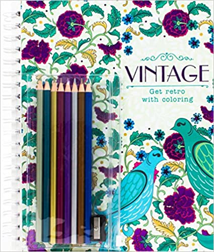 Vintage: Get Retro with Coloring - Hardcover