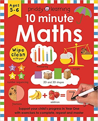 Wipe Clean Workbook 10 Minute Maths  - Paperback