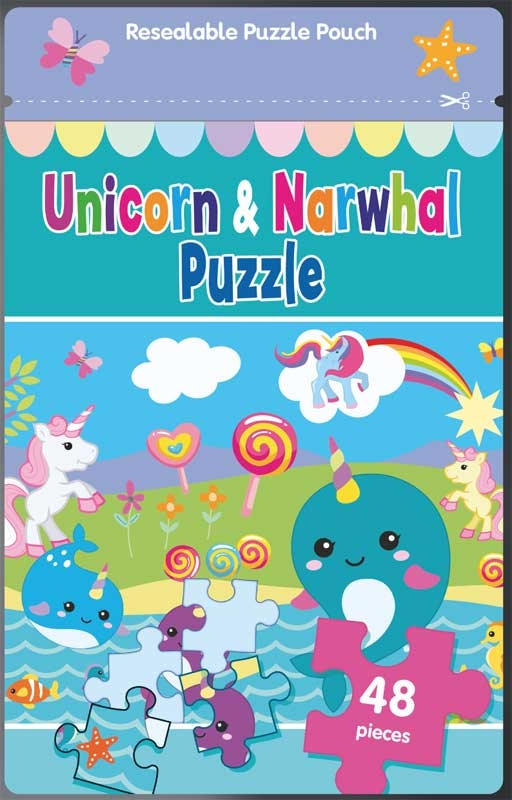 PUZZLE BAG - UNICORN & NARWHAL