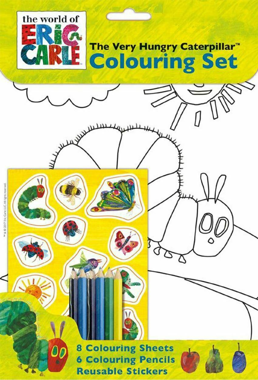 The Very Hungry Caterpillar - A4 Colouring Set