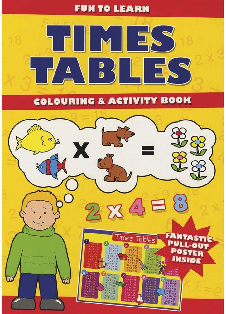 Time Tables Colouring & Activity Books