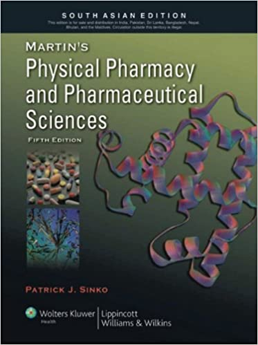 Martins Physical Pharmacy and Pharmaceutical Sciences 6th Edition - (PB)
