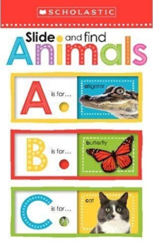 Slide and Find Animals ABC (Scholastic Early Learners) - (BB)