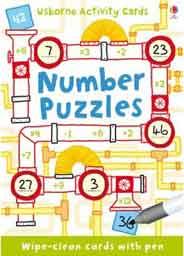 Usborne Activity Card Number Puzzle
