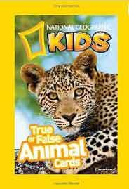 National Geographic Kids True or False Animal CardsCards