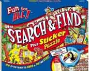 Fun for All: Search And Find Plus Stickers Puzzle   Blue