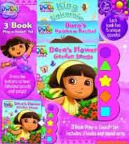 Nickelodeon Dora the Explorer: King Unicornio; Doras Rainbow Recital Doras Flower Garden Songs: 3 Book PlayaSound Set