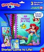 Story Reader 2.0 3-Book Disney Princess Library by Editors of Publications International Ltd. (2010) Spiral-bound