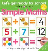Wipe Clean Lets Get Ready for School Simple Maths Spiral Bound -