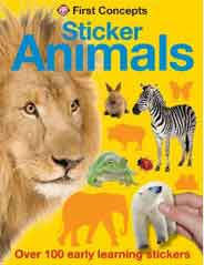 Animals First Concepts Sticker First Sticker Concepts