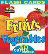 Playpals Flash Cards Fruits and Vegetables Cards -