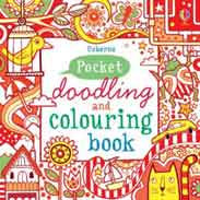 Pocket Doodling and Colouring Book: Red Book Usborne Art Ideas