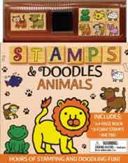 Stamps & Doodles: Animals With Ink Pad and Stamp Pad