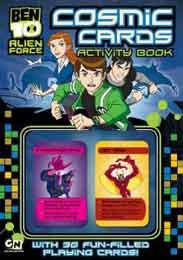 Ben 10 Alien Force Cosmic Cards Activity Book