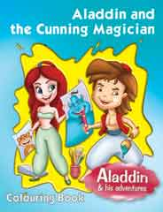 ALADDIN & THE CUNNING MAGICIAN COLOURING BOOK