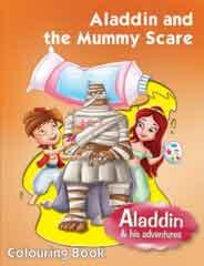ALADDIN & THE MUY SCARE COLOURING BOOK