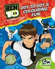 Quixots Ben 10 A4 Dot To Dot Coluring Fun