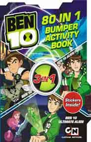 Quixots Ben 10 80 In 1 Bumper Activity Book