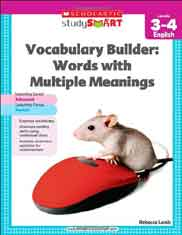 Scholastic Study Smart Vocabulary Builder Words with Multiple Meanings Level 34