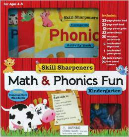 Skill Sharpeners Math and Phonics Fun Kindergarten
