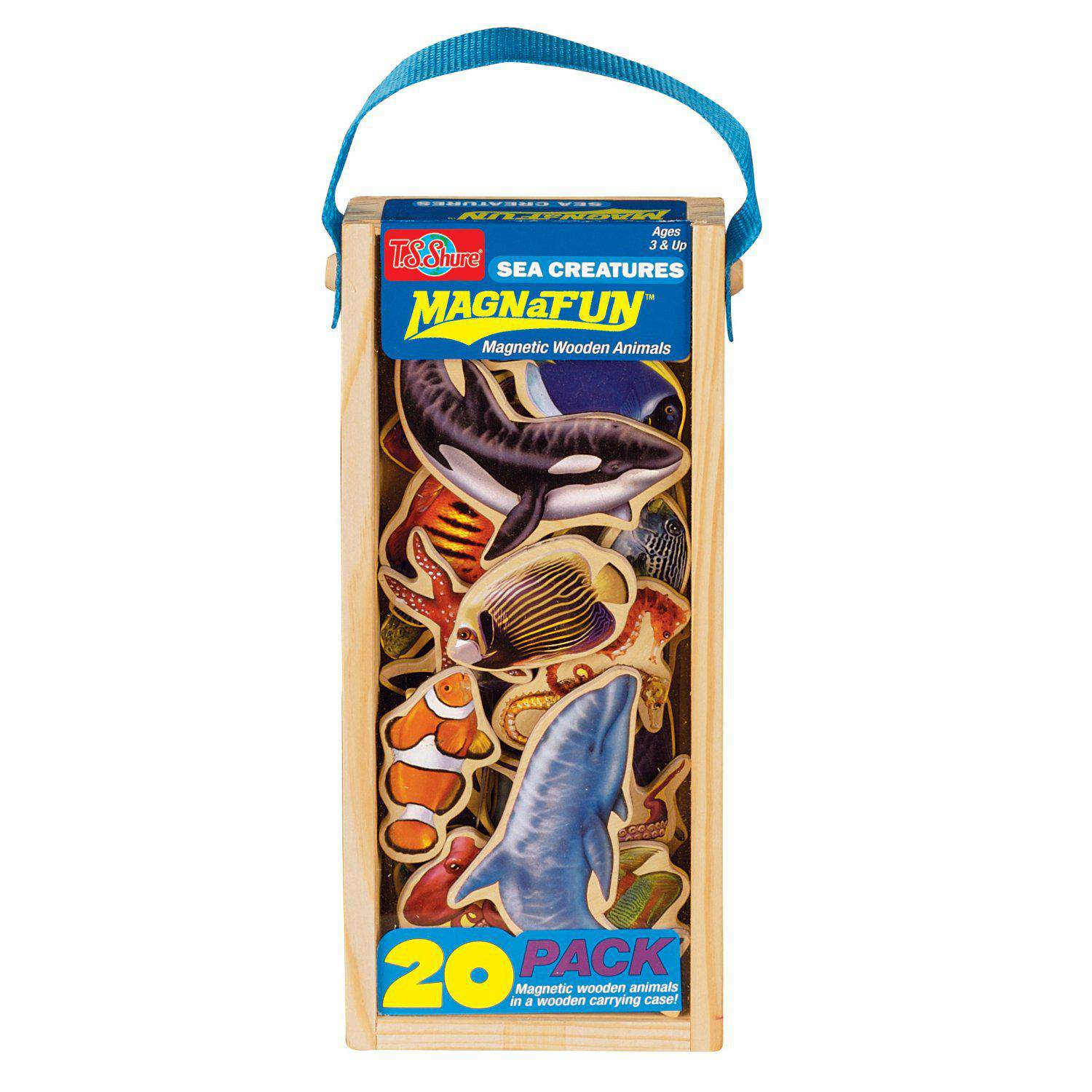 Magnetic Wooden Pretend Play: Sea Creatures Magnanimals      Code # 9213